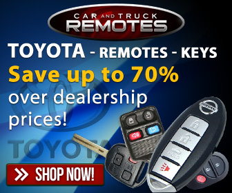 Toyota Keyless entry remotes and key fob controls for up to 70% less than dealer prices- Shop now and save!