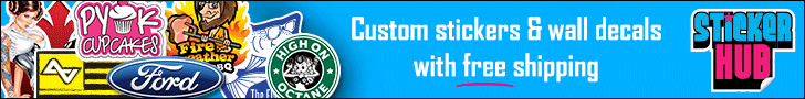 Custom stickers and wall decals with free shipping
