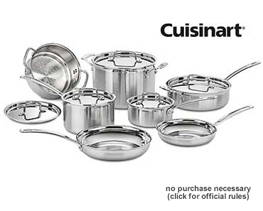 Enter For A Chance To Win a Cuisinart MultiClad Pro 12-Pc Cookware Set