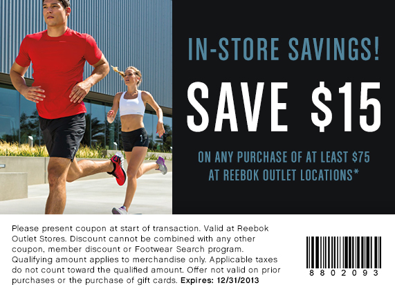 View Reebok Deals How to Use Coupons and Codes. To activate a Reebok coupon or promo code simply navigate to your cart. Below