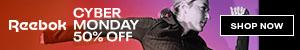Shop Cyber Monday: 50% Off at Reebok!