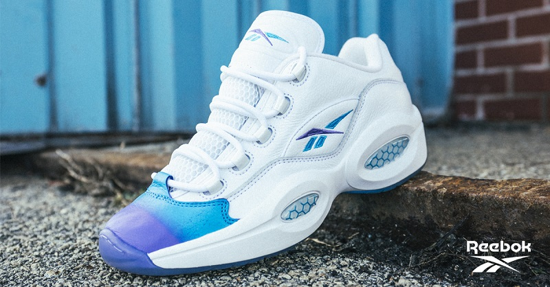 """Take over the court in our Question Mid & Kamikaze II """"DIGI-WARP"""" colorways."""