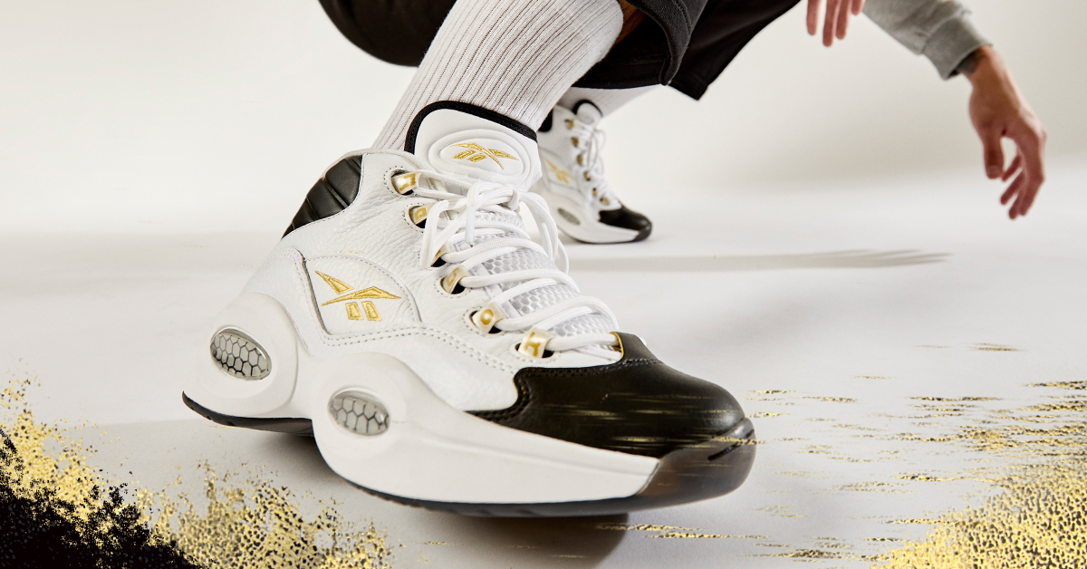 Let your gold shine through with the all new Question Mid: Respect My Shine. Just like the legend Allen Iverson himself.