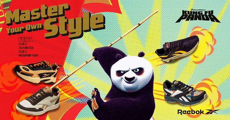 REEBOK X KUNG FU PANDA: Get ready to master your own style as Kung Fu master.