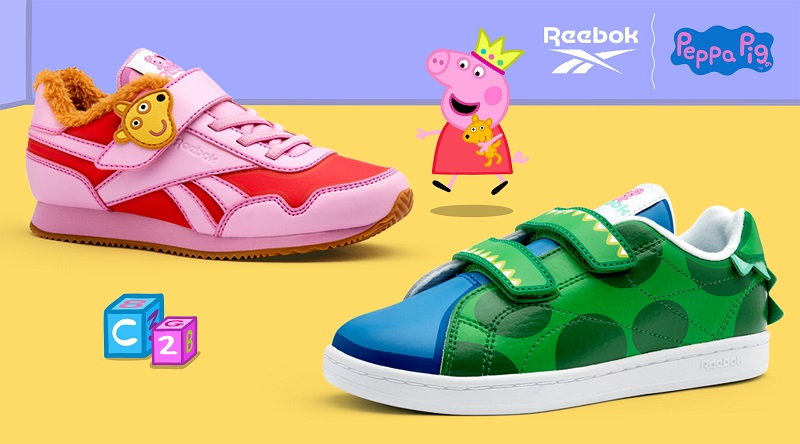 Reebok X Peppa Pig: Created exclusively for Little