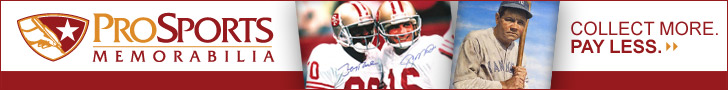 Save big on authentic sports collectibles at ProSportsMemorabilia.com