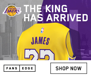 The King is in Los Angeles,  gear up in LeBron Lakers Gear at FansEdge