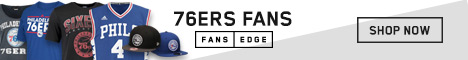 Shop the newest 76ers gear at FansEdge!