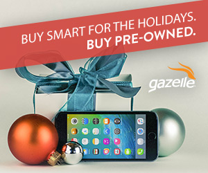 Buy Smart For The Holidays with Gazelle