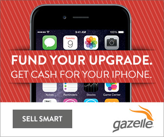 "Gazelle ad ""get cash for your iPhone"""