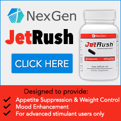 JetRush is guaranteed to be the most powerful stimulant you have ever tried or your money back!