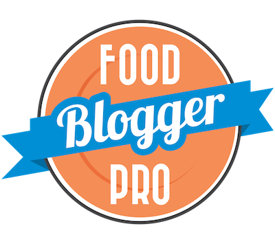 Food blogger pro logo on clear background