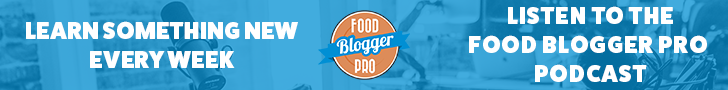 Food Blogger Pro logo on blue background