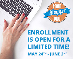 Food Blogger Pro Spring Enrollment 2016