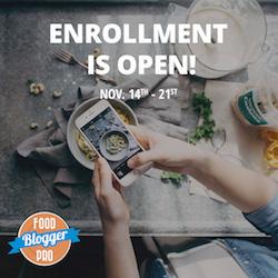 Fall 2017 Food Blogger Pro Enrollment