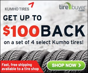 Up to $100 back on Kumho Tires - TireBuyer.com