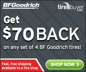 Up to $70 back on BF Goodrich Tires – TireBuyer.com