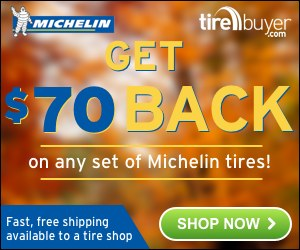 Save $70 on Michelin tires at TireBuyer.com