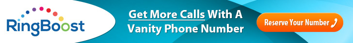 RingBoost.com - Get More Calls With A Vanity Number!