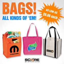 Score Promotions - Promotional Products - Bags