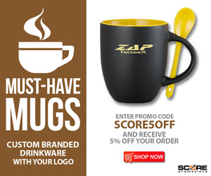 Score Promotions - Promotional Products - Mugs