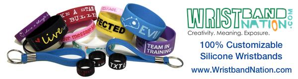100% custom wristbands