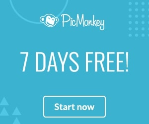 Get a 7-day Free Trial of PicMonkey banner