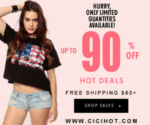 CiCiHot hot deals up to 90% off