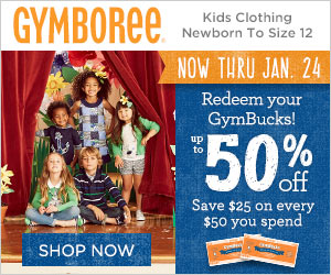 Redeem your GymBucks for up to 50% off at Gymboree!
