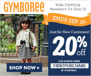 Try Gymboree for the 1st time and SAVE (2 coupon codes inside)