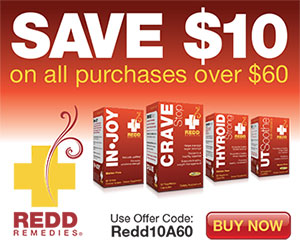 $10 Off All Orders over $60 – RR10A60 by Redd Remedies