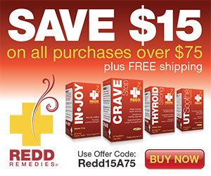$15 Off All Orders Over $75 - RR15A75 by Redd Remedies