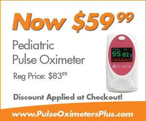 Pediatric Pulse Oximeter now only $59.99. Regular price $83.99!