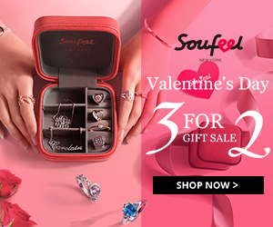 Valentine's Day Gift Sale - Buy 3 Get 1 For Free at Soufeel.com
