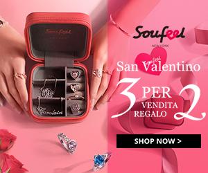 Vendita di San Valentino: acquista 3 e ricevi 1 gratuitamente su Soufeel.it