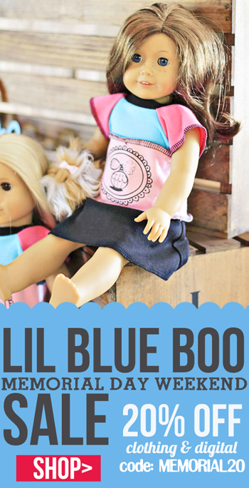 Lil Blue Boo Memorial Day Sale on Clothing, Patterns, Printables and more!