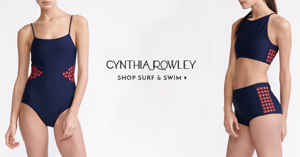 Cynthia Rowley Embroidered Cutout Swimsuits