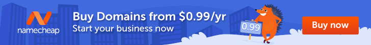 Popular Domains for just 99 Cents at Namecheap!