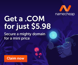 .COM for just $5.98 at Namecheap