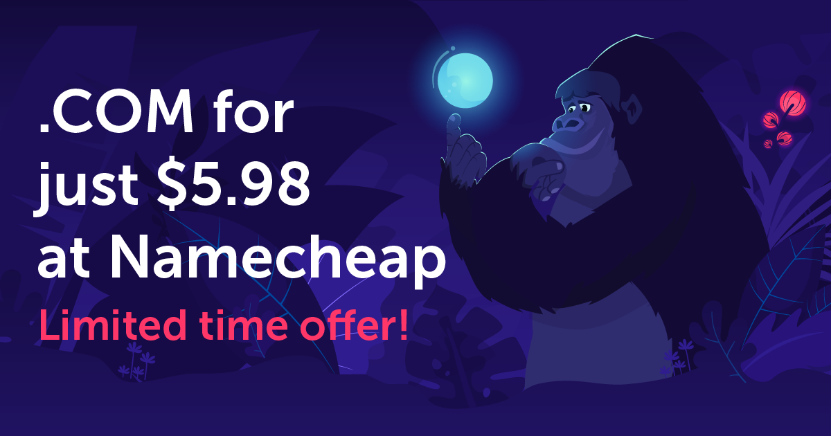 .COM for just $5.98 at Namecheap!