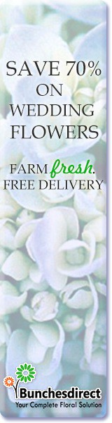 Save 70% of your wedding flowers with Bunches Direct