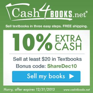 Cash4Books 10% Bonus Code: DecShare10