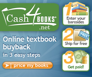 Try online textbook buyback in three easy steps at Cash4Books.net