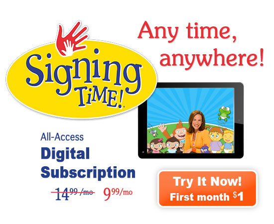 Signing Time Digital Subscriptions