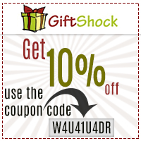Get 10% off on all orders by GiftShock