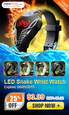 Up to 25% off New Snakehead LED Digital Watch