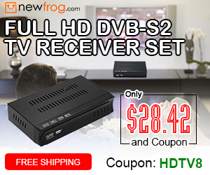 Full HD TV Receiver Set-Only $28.42 And Coupon: HDTV8 from Newfrog.com