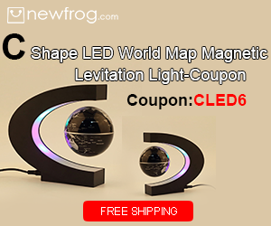 C Shape LED World Map Magnetic Levitation Light