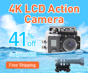 4K LCD Action Camera-Up To 41% Off and Coupon:HD8