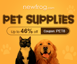 Pet Supplies-Up to 46% off and coupon: PET8